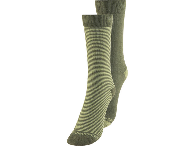 Craghoppers NosiLife Chaussettes Twin Pack Homme, parka green/dry grass